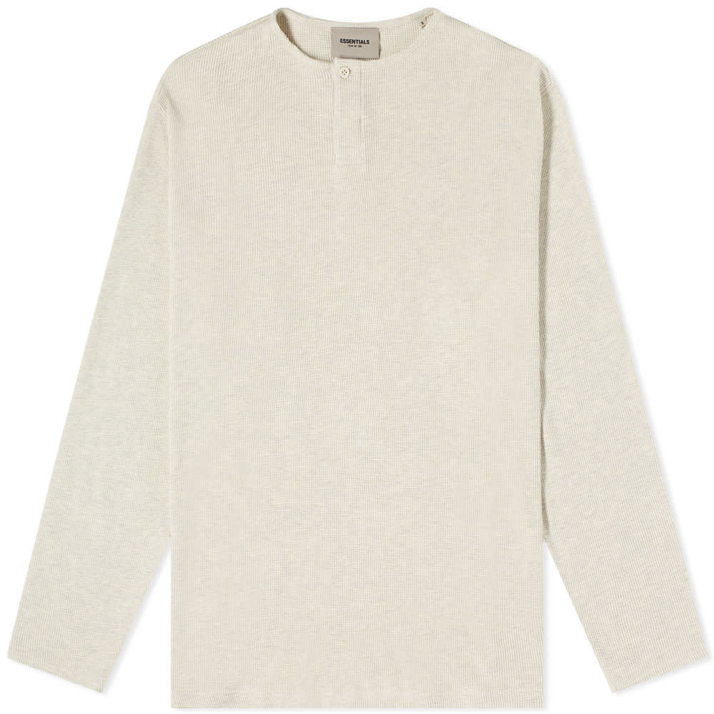 Photo: Fear of God ESSENTIALS Long Sleeve Thermal Henley