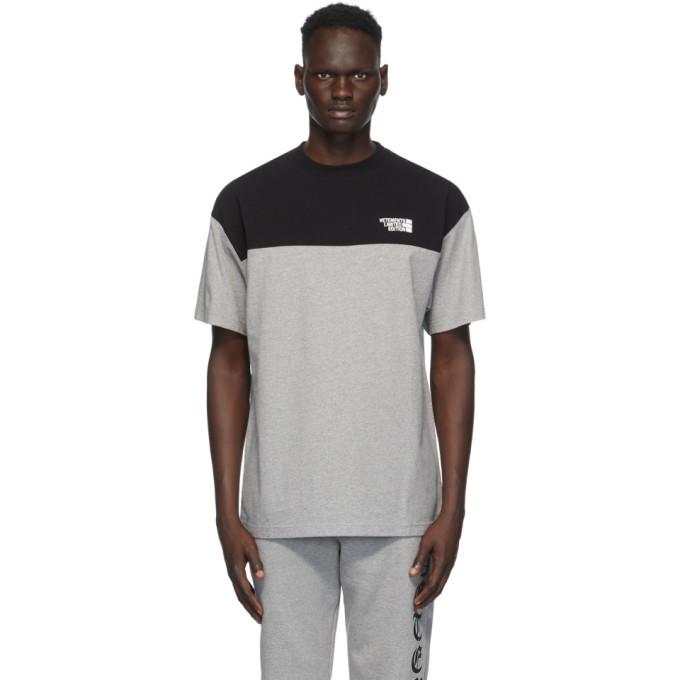 Photo: VETEMENTS Black and Grey Cut Up Logo T-Shirt
