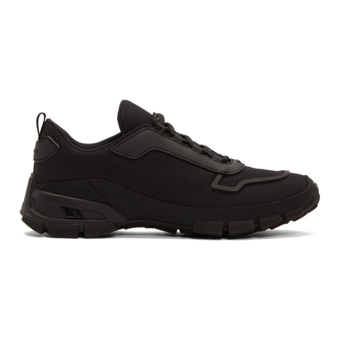 Photo: Prada Black Gabardine Sneakers