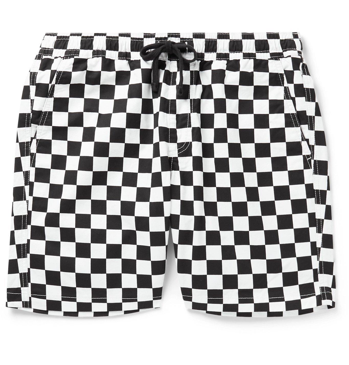 Photo: Vans - Range Checkerboard Cotton-Twill Drawstring Shorts - White