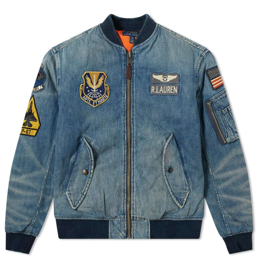 Photo: Polo Ralph Lauren Denim MA-1 Patch Bomber