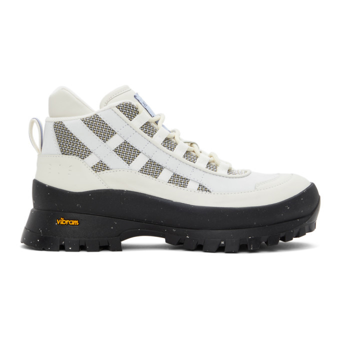 MCQ Off-White and Grey Al-4 Hiking Boots