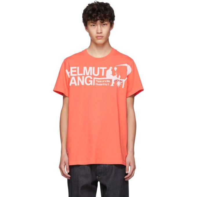 Photo: Helmut Lang Orange Logo Standard T-Shirt
