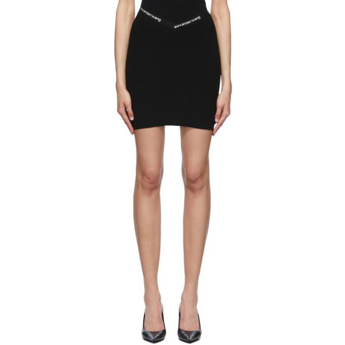 Photo: alexanderwang.t Black Logo Trim Bodycon Miniskirt