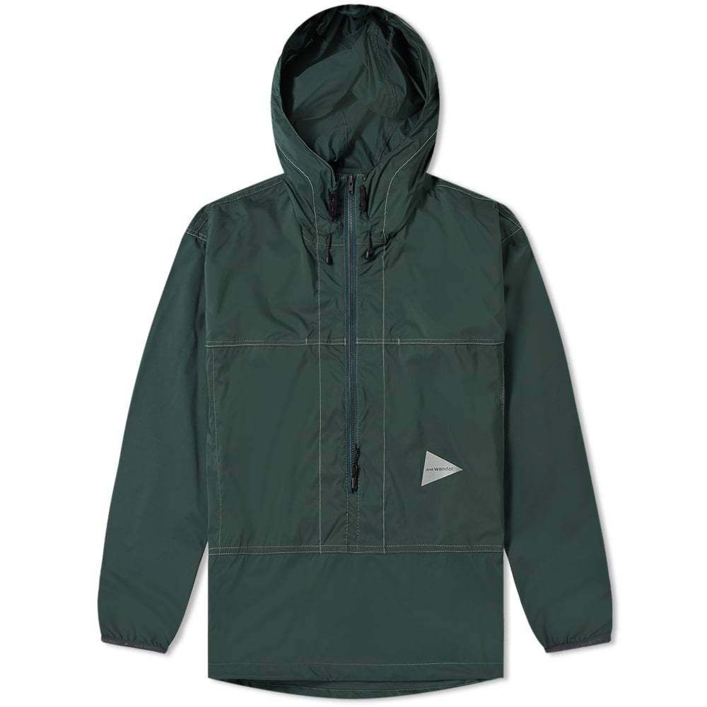 Photo: And Wander Pertex Wind Popover Jacket Green