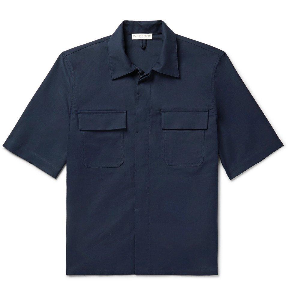 Photo: Bottega Veneta - Camp-Collar Cotton Shirt - Navy