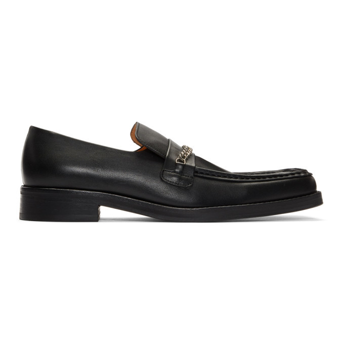 Photo: Martine Rose Black Leather Loafers