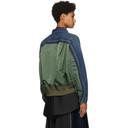 Sacai Blue and Green MA-1 Jacket