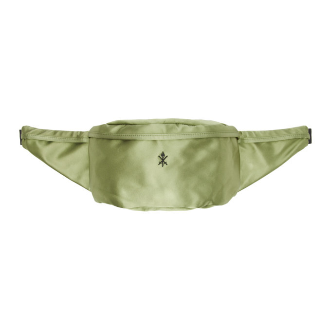 Photo: Opening Ceremony Green Satin Classic Fanny Pack