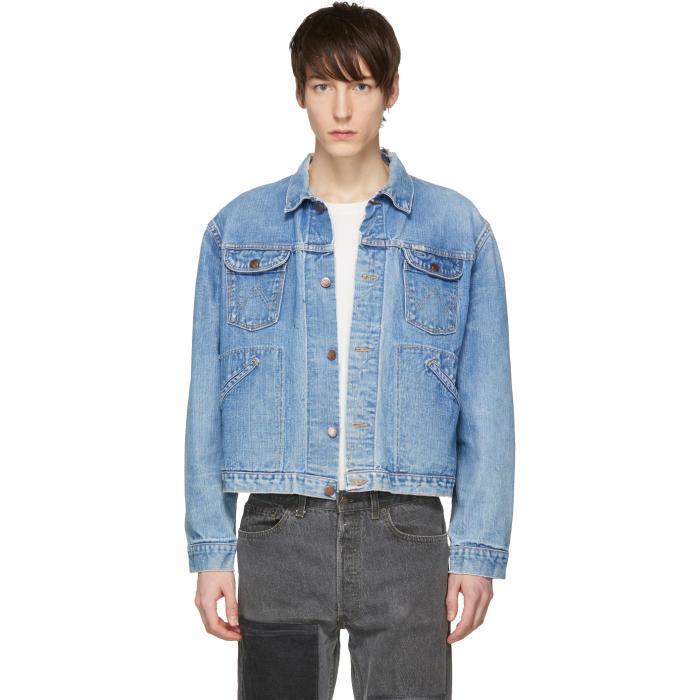 Photo: B Sides Indigo Cropped Vintage Wrangler Denim Jacket
