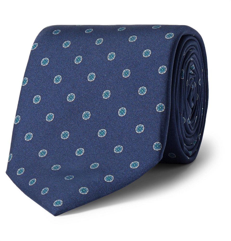 Dunhill - 8cm Mulberry Silk-Jacquard Tie - Men - Blue