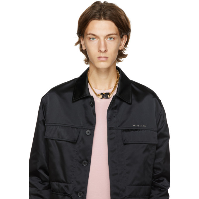 1017 ALYX 9SM Gold Triple Chain Buckle Necklace
