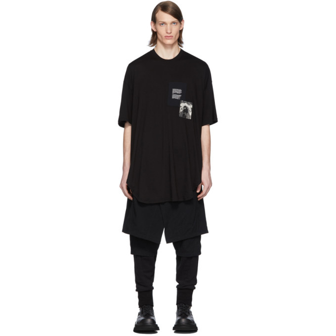 Photo: Julius Black Patch Print T-Shirt