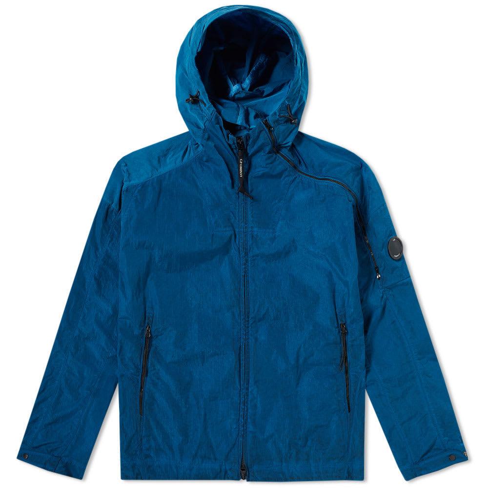 Photo: C.P. Company Chrome Hooded Jacket Blue