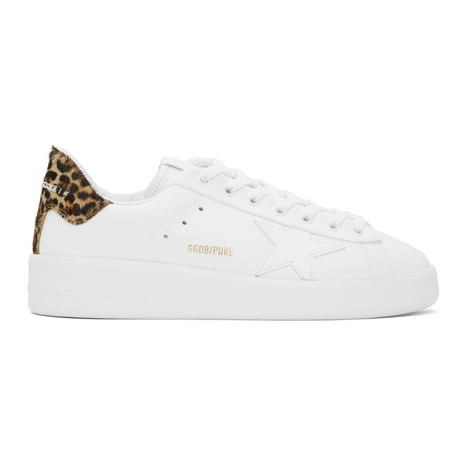 Photo: Golden Goose White Leopard Purestar Sneakers