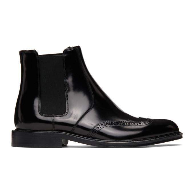Photo: Saint Laurent Black Army Chelsea Boots