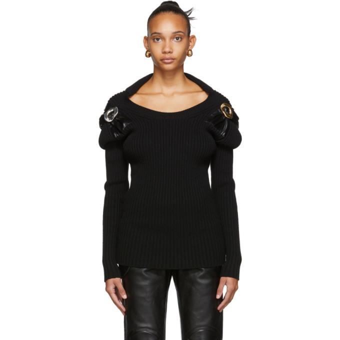 Photo: Bottega Veneta Black Techno Wool Sweater