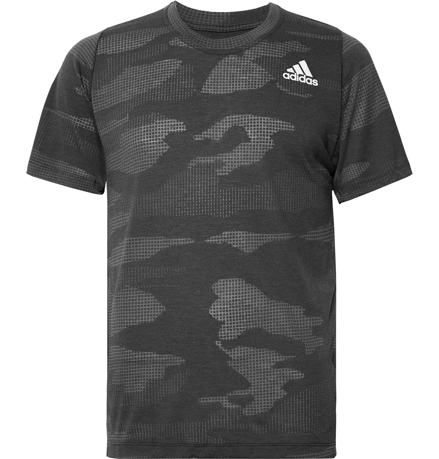 Photo: Adidas Sport - FreeLift Camouflage-Print Climalite T-Shirt - Black