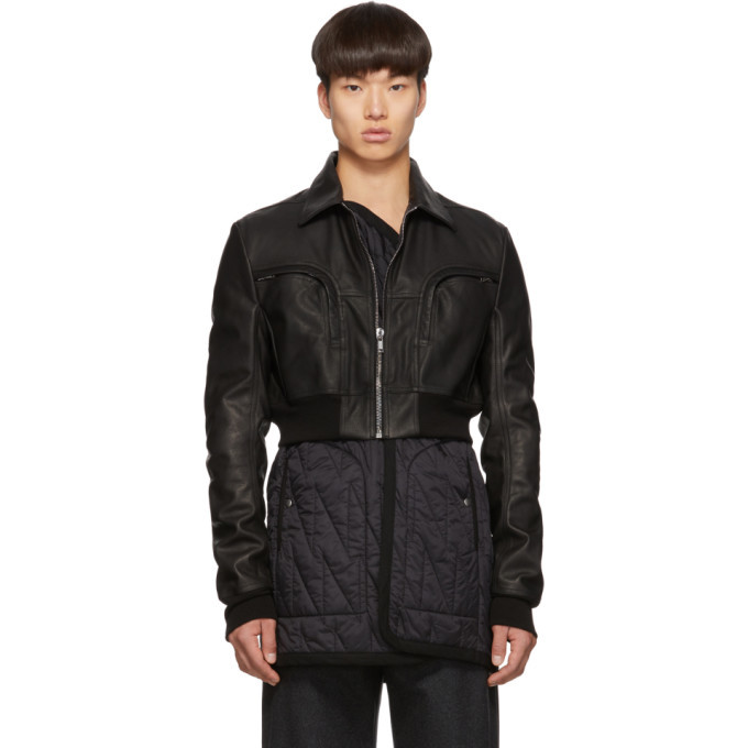 Photo: Rick Owens Black Leather Babel Liner Jacket