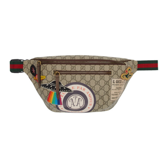 Photo: Gucci Beige GG Supreme Courier Belt Bag