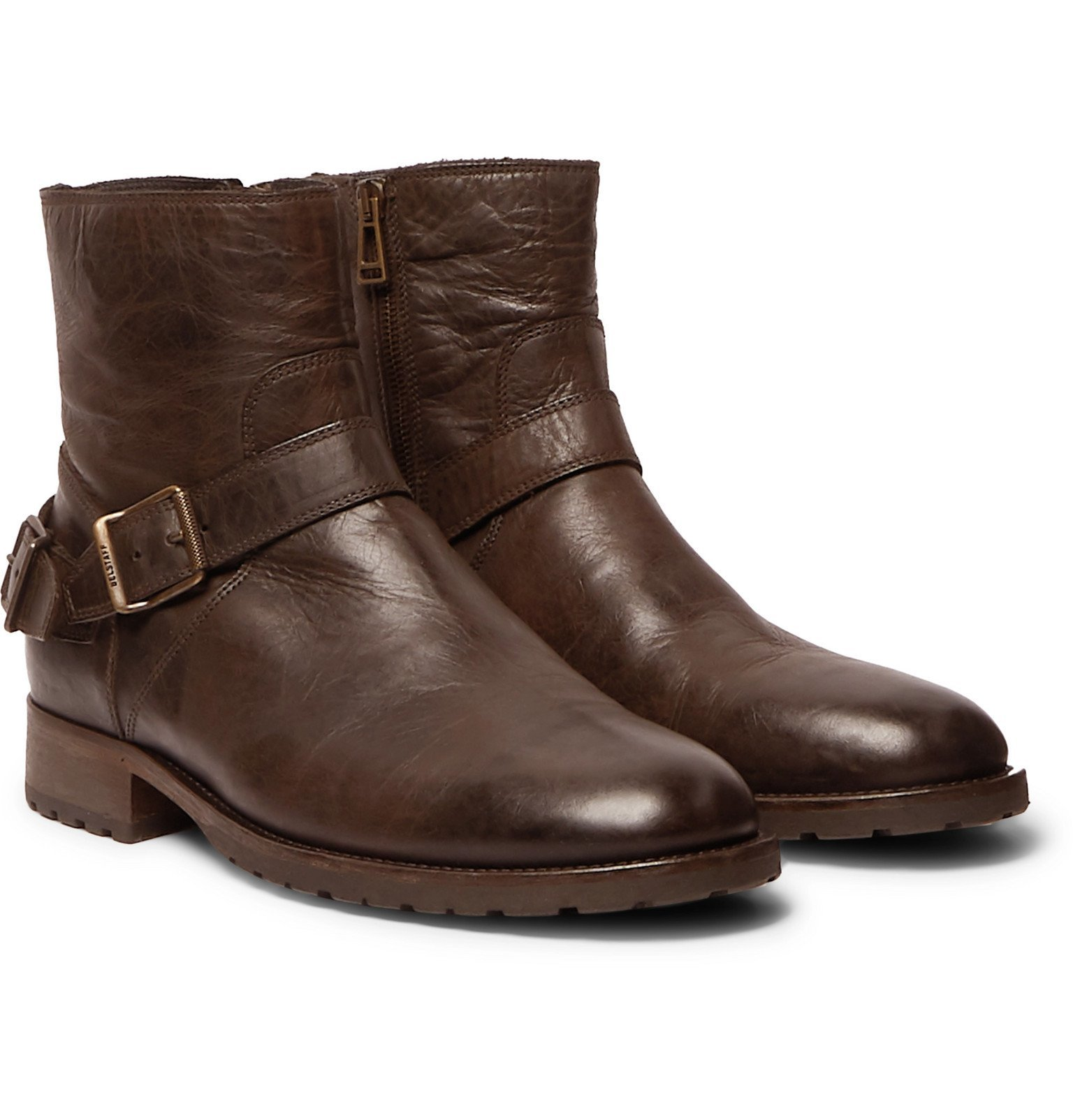 Photo: Belstaff - Trialmaster Leather Boots - Brown