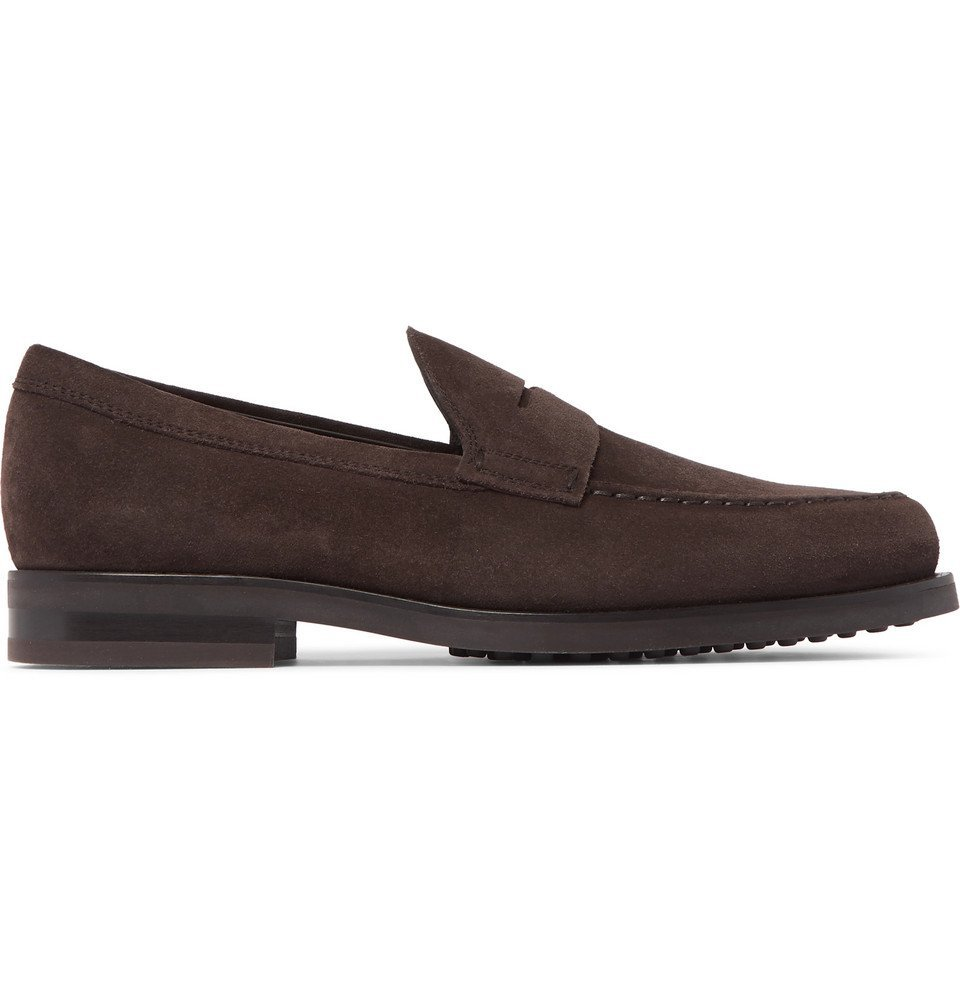 Tod's - Suede Penny Loafers - Dark brown