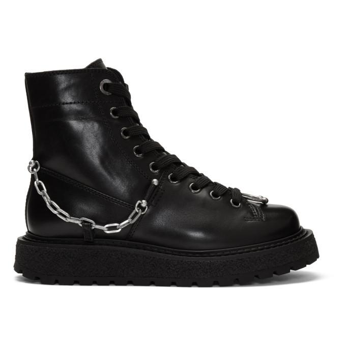 Photo: Neil Barrett Black Punk Chain Gorilla Boots