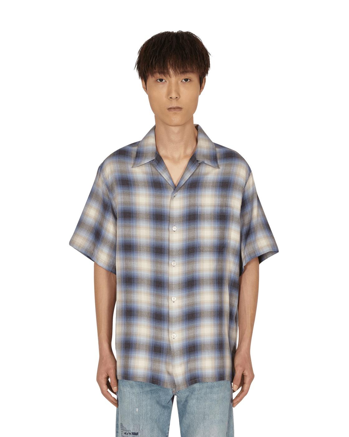 Photo: Wacko Maria Ombre Check Open Collar Shirt (Type 2)