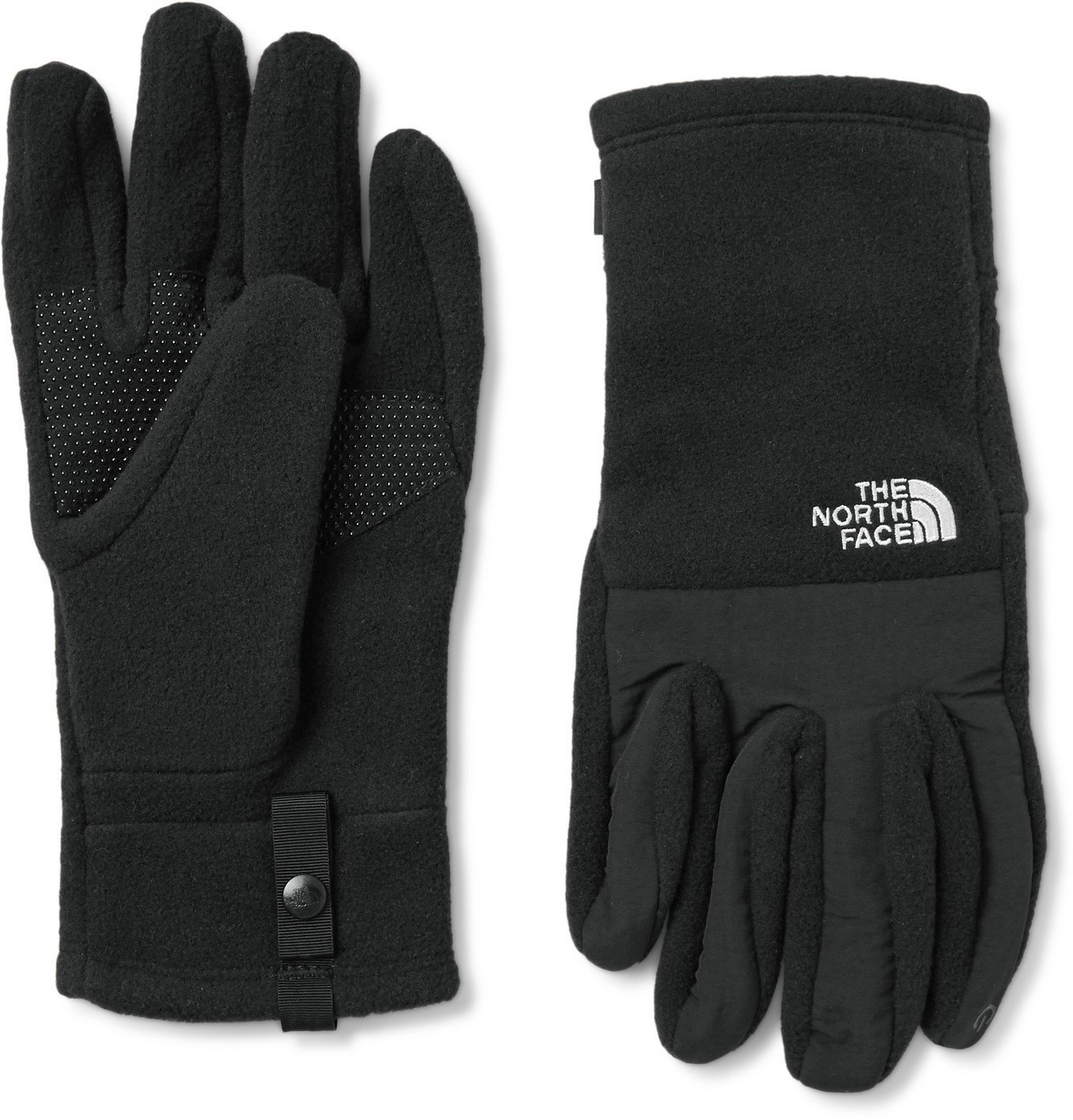 Photo: The North Face - Denali Etip Logo-Embroidered Fleece and Nylon Taslan Gloves - Black