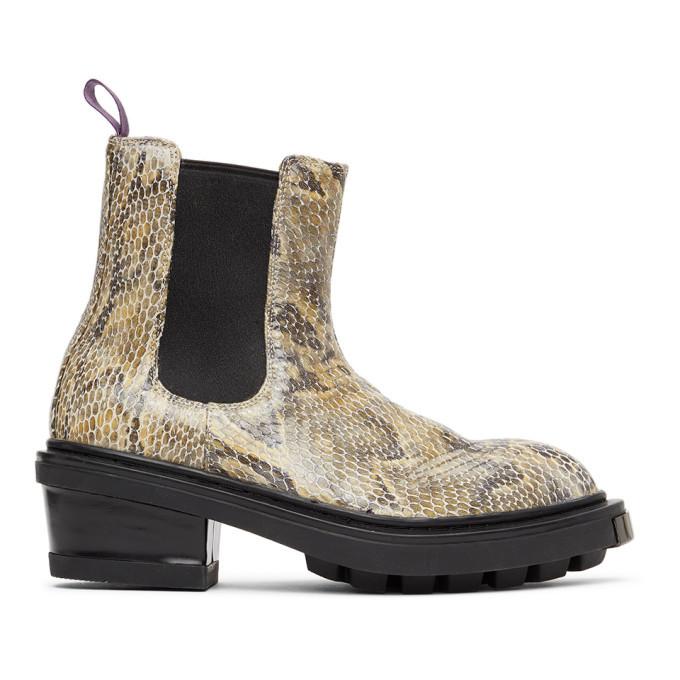 Photo: Eytys Beige Snake Nikita Chelsea Boots