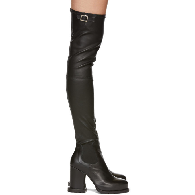 Sacai Black Long Boots