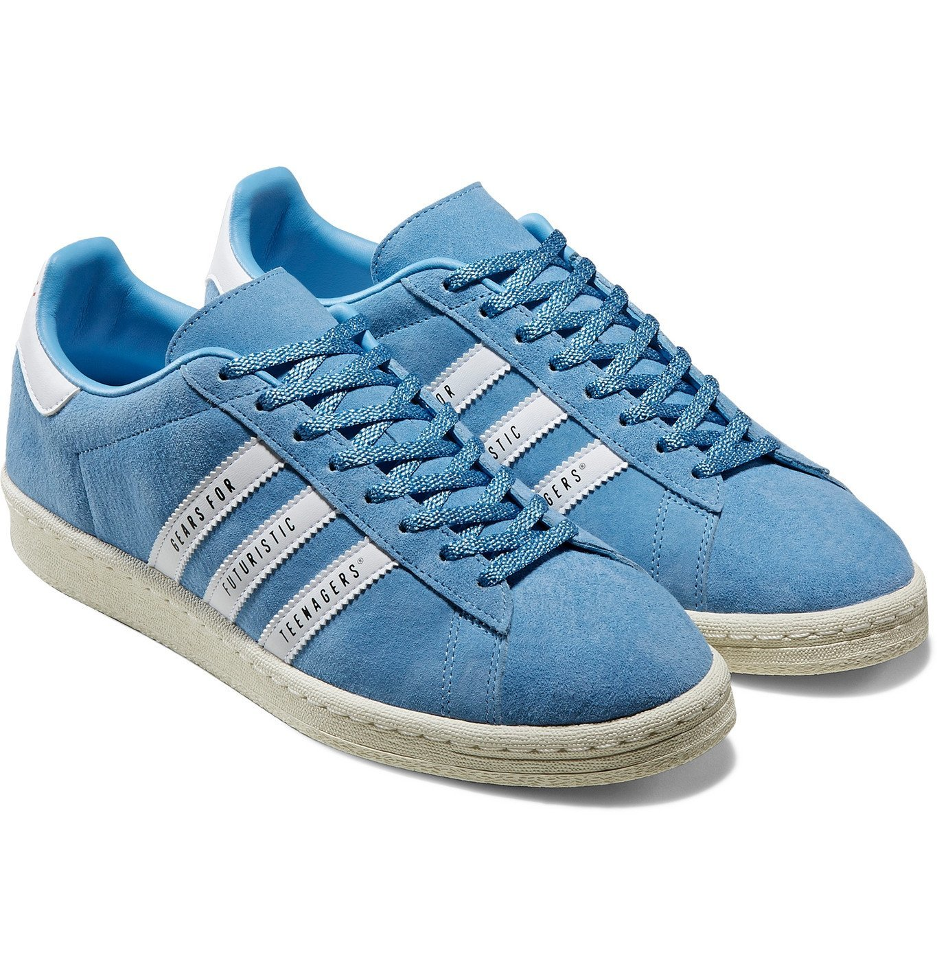 Photo: adidas Consortium - Human Made Campus Leather-Trimmed Suede Sneakers - Blue