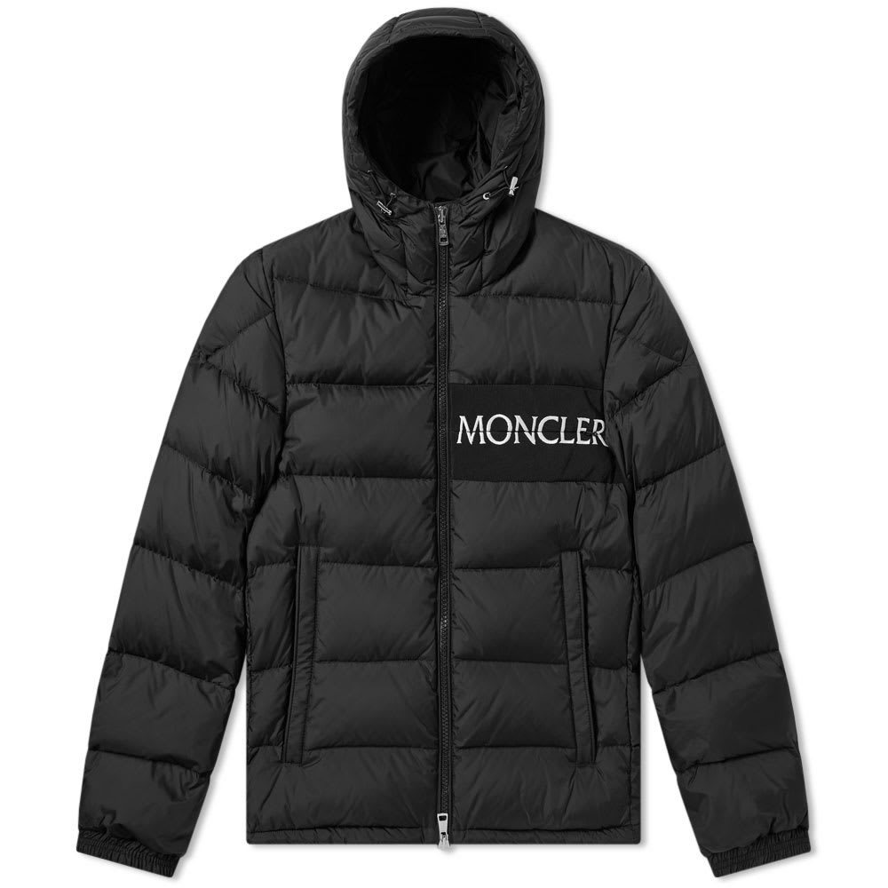 Photo: Moncler Aiton Logo Hooded Down Jacket Black