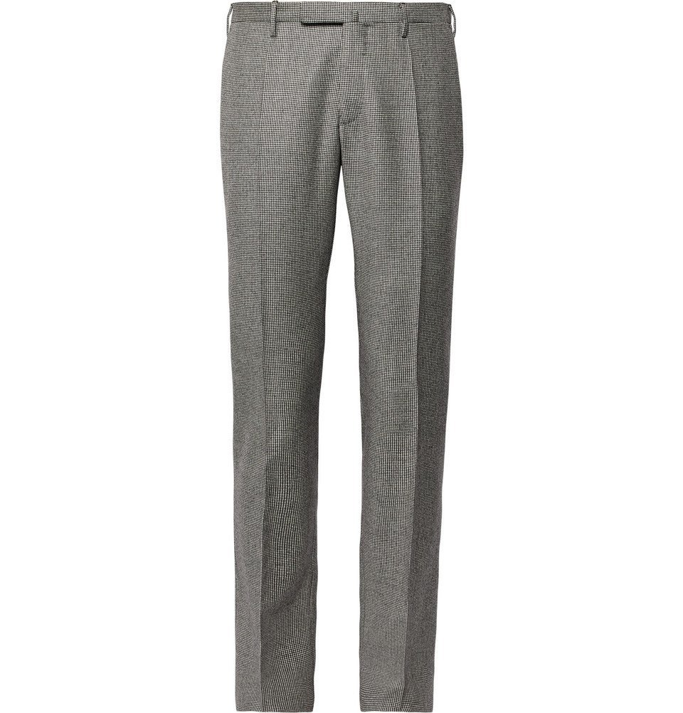 Photo: Incotex - Slim-Fit Puppytooth Virgin Wool Trousers - Gray