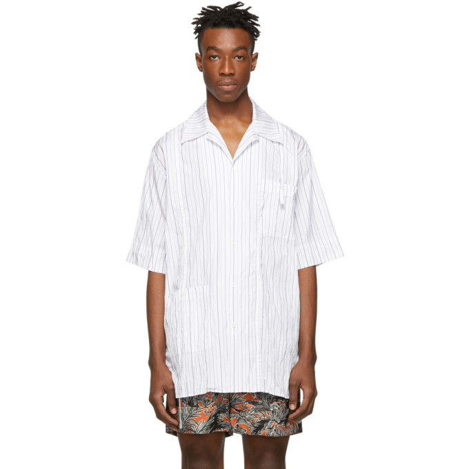 3.1 Phillip Lim White Oversized Souvenir Tunic Shirt