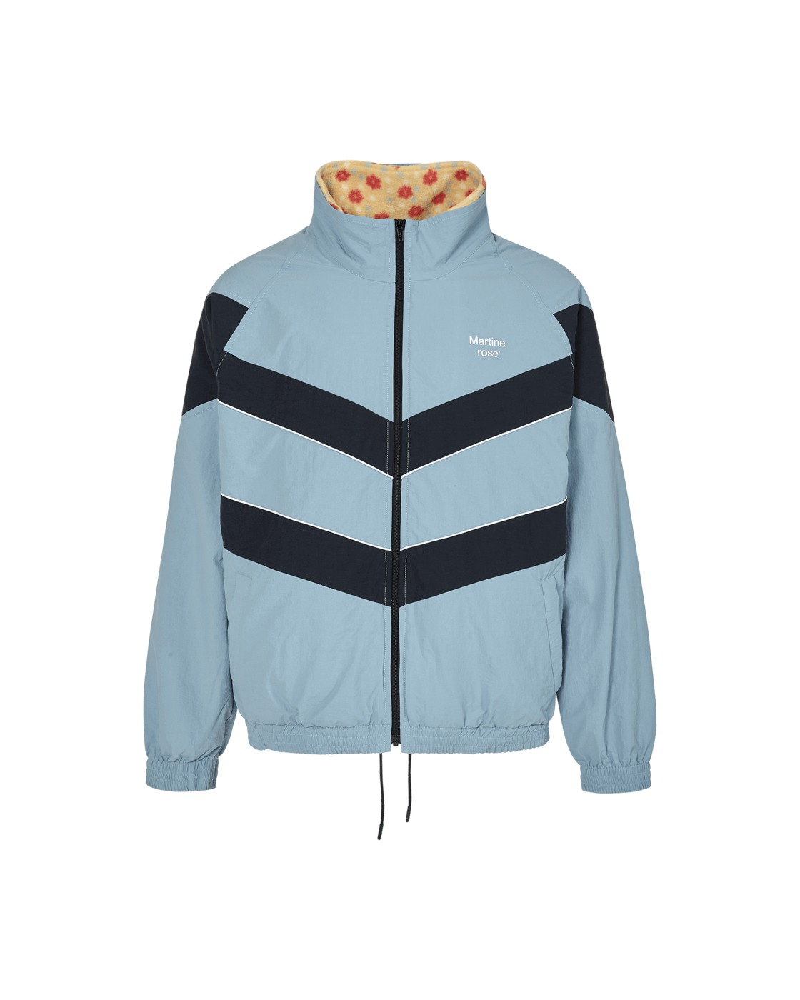 Photo: Martine Rose Chevron Fleece Lined Jacket Blue