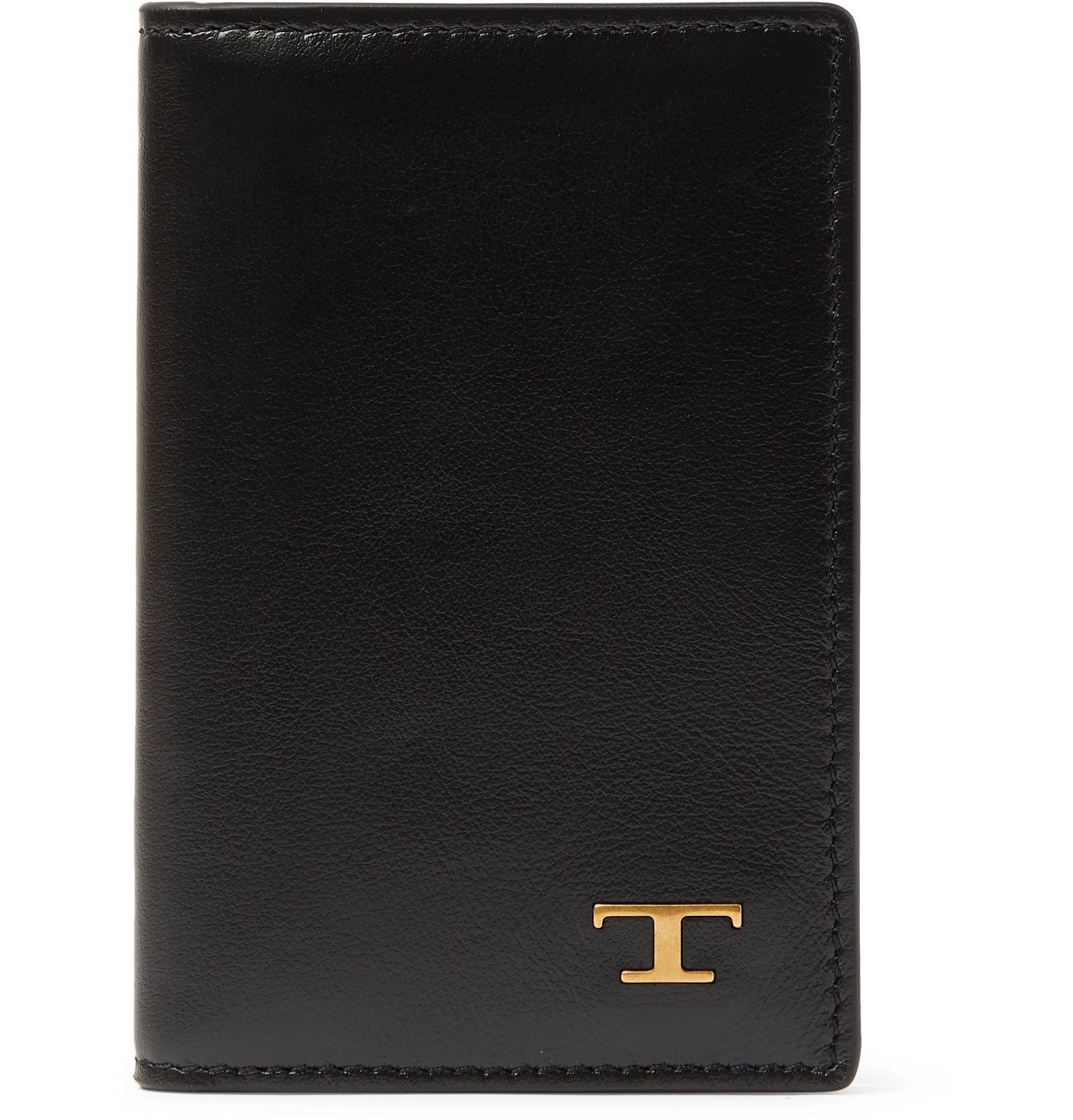 Photo: Tod's - Logo-Embellished Leather Bifold Cardholder - Black