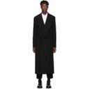 Comme des Garcons Homme Plus Black Wool Felt Round Hole Coat