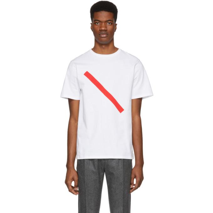 Photo: Saturdays NYC White Slash T-Shirt