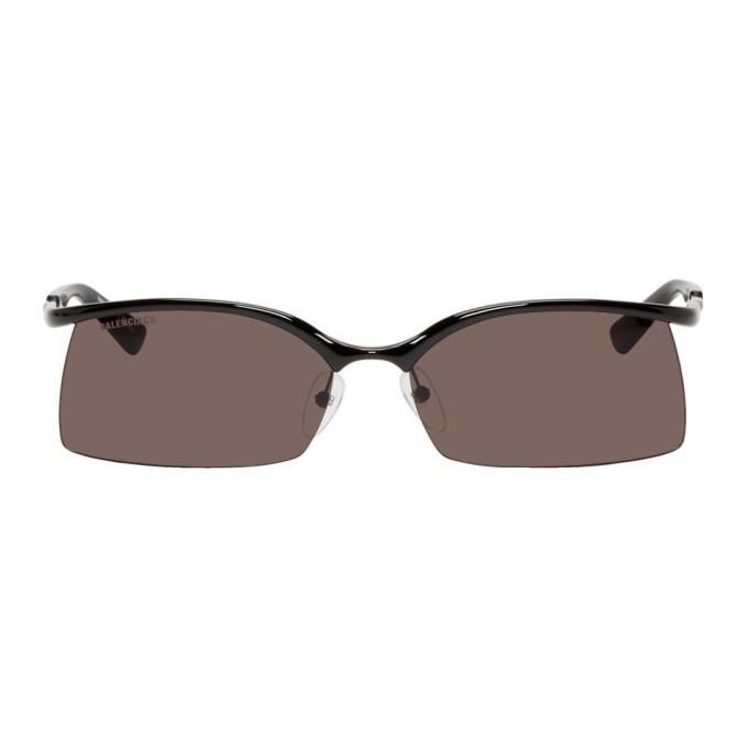 Photo: Balenciaga Black Fire Rectangular Sunglasses