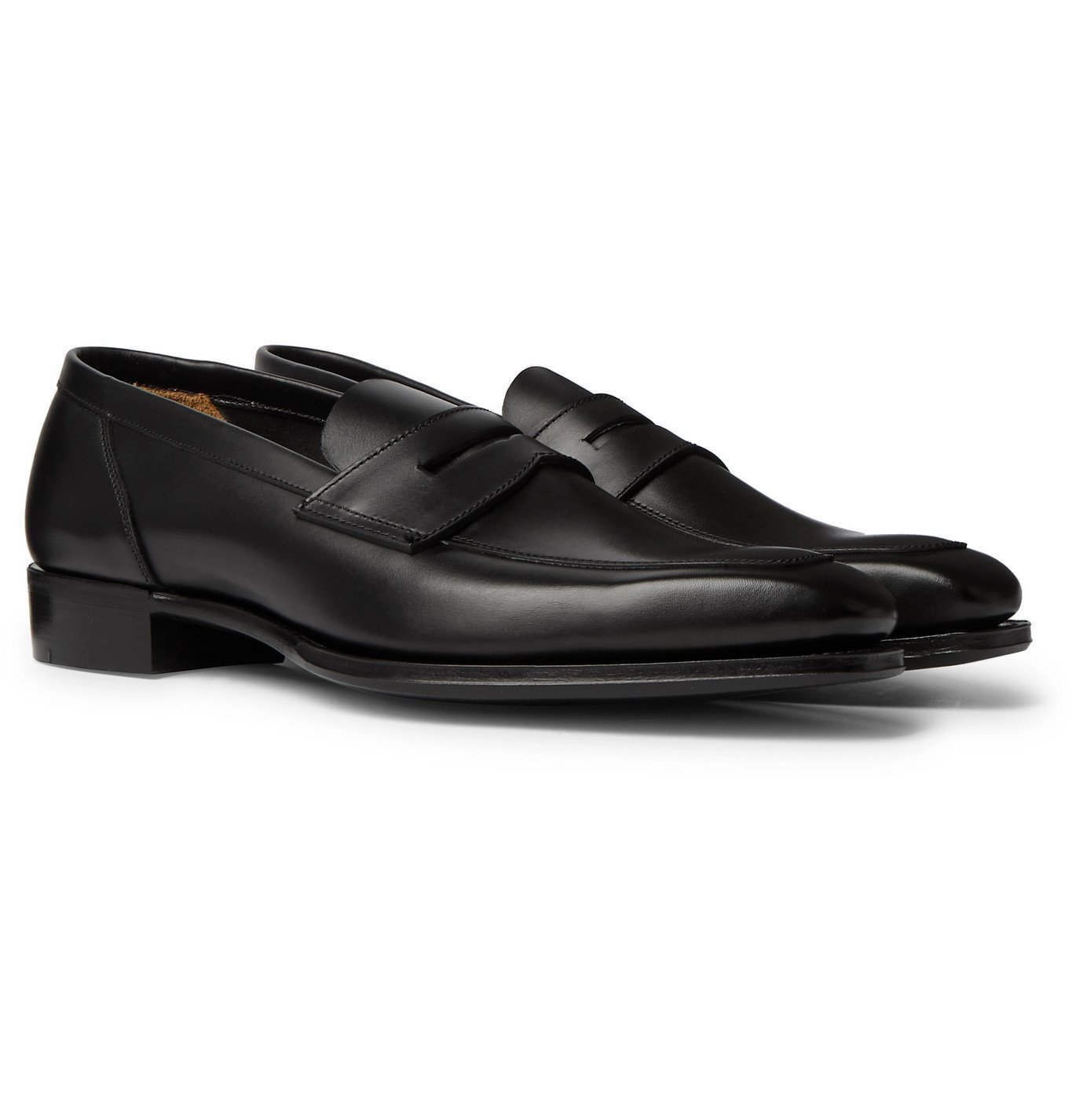 Photo: Kingsman - George Cleverley Leather Penny Loafers - Black