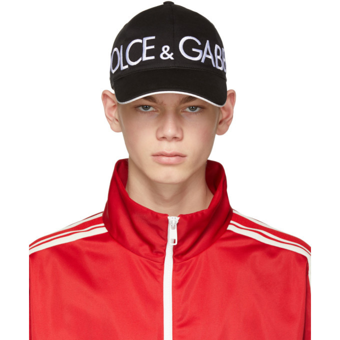 Photo: Dolce and Gabbana Black Patch Baseball Cap