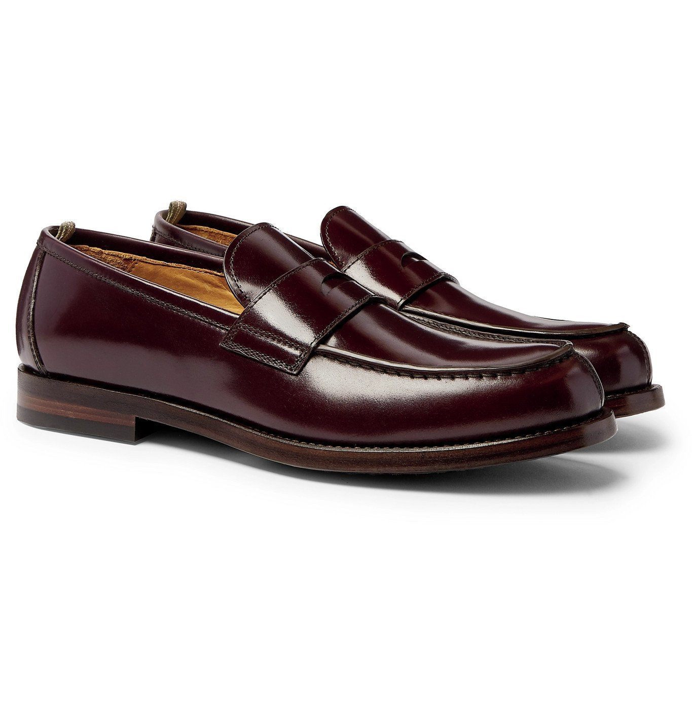 Photo: Officine Creative - Vine Leather Penny Loafers - Burgundy