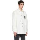 Raf Simons White Denim Logo Patch Shirt