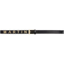 Martine Rose Black Leather Logo Belt