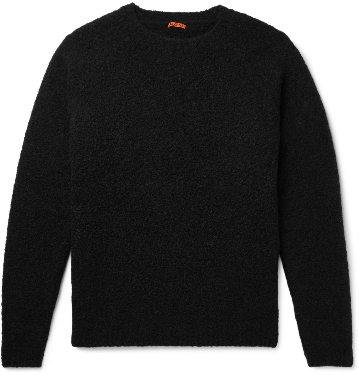 Photo: Barena - Golena Mélange Brushed Wool-Blend Sweater - Black
