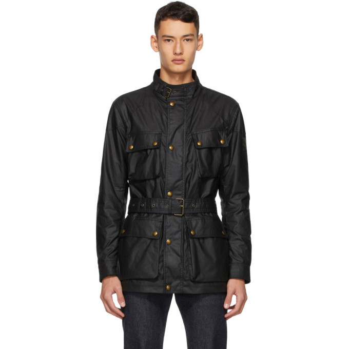 Belstaff Black Trailmaster Jacket