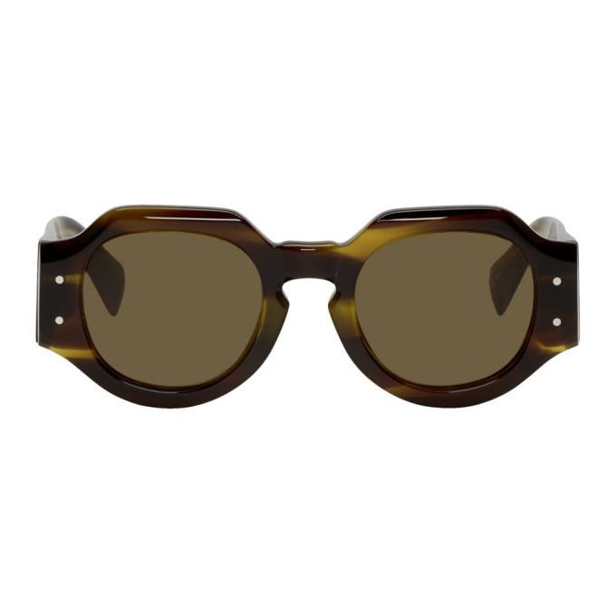 Photo: Dries Van Noten Tortoiseshell Linda Farrow Edition 174 C8 Sunglasses
