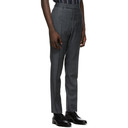 Dunhill Grey Wool Check Mayfair Trousers