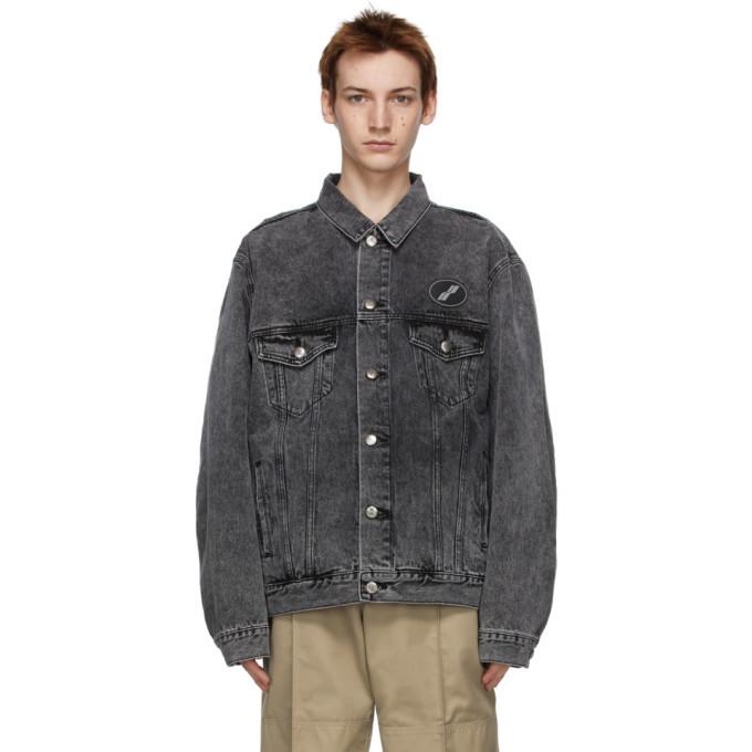Photo: We11done Black Denim Oversized Jacket